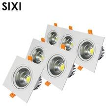 Встроенный в помещении Светодиодный светильник COB bean gall 3W5W7W10W12W20W30W двойной Точечный светильник с тремя головками s светодиодный AR111 решетка один светильник s