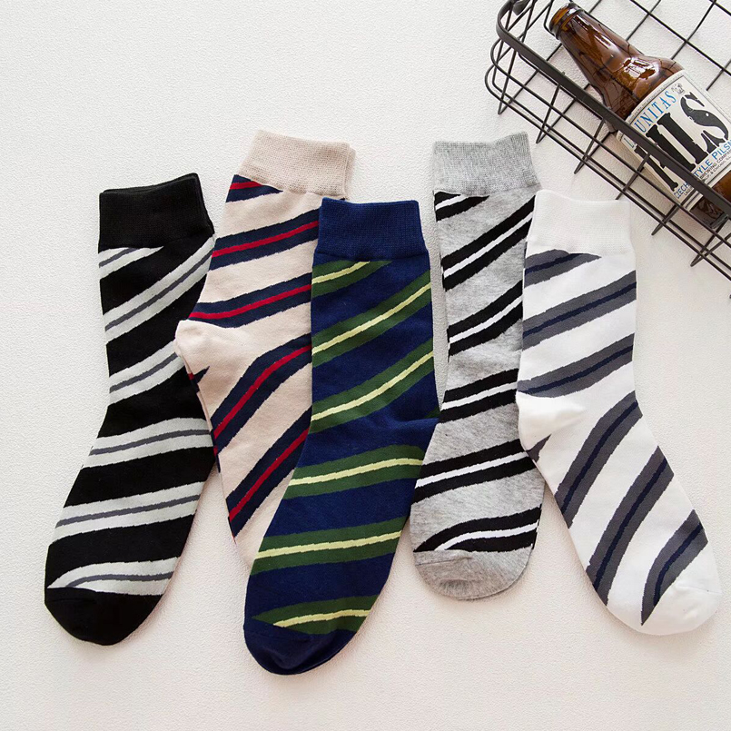 10Pairs Stripes Colorful Socks Man Hip hop Happy Socks 100% Socks Men Luxury Mens Dress Socks Soft Breathable High Quality