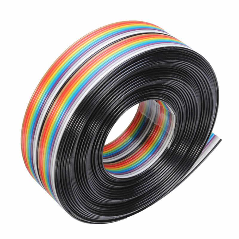 """5 M כבל 20 P דופונט 1.27 מ""""מ קשת שטוח תמיכת קו החוט מולחם חוט מחבר כבל"""