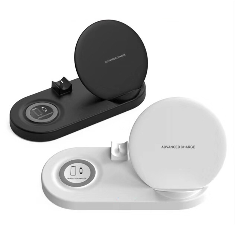 5 in 1 Wireless Charger Dock for iPhone Samsung Smartphone Qi Quick Charging Station Bracket For Apple Watch 4 3 2 1 AirPods