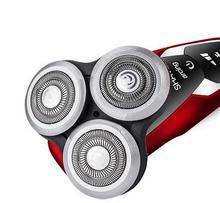 Men rechargeable shavers 4 d intelligent rotary floating three segment waterproof repair the beard shaving machine knife