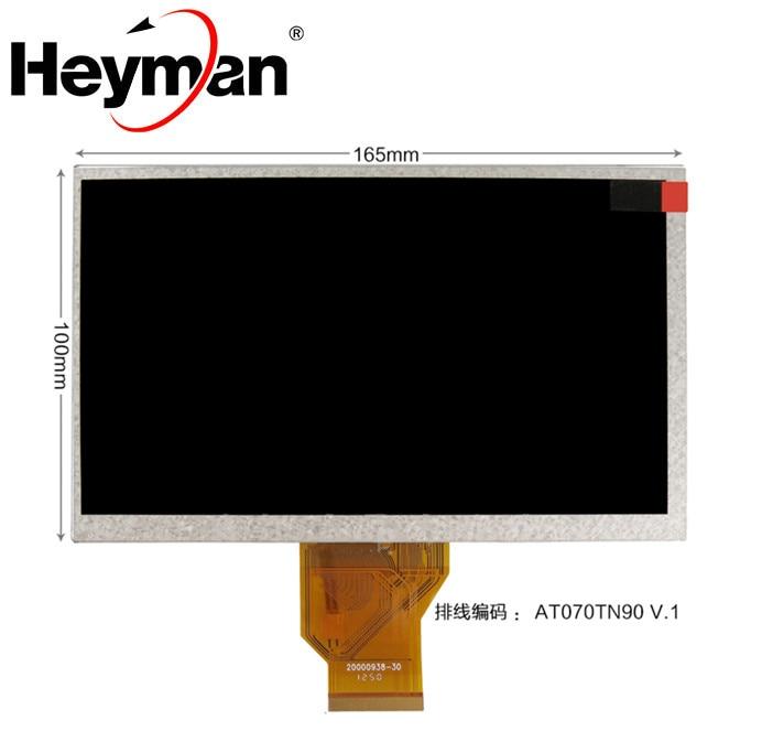 Heyman-pantalla LCD para coche, 7 pulgadas, AT070TN92, V.X, AT070TN90, 165x100, pantalla táctil resistiva de 4 cables, DVD LCD