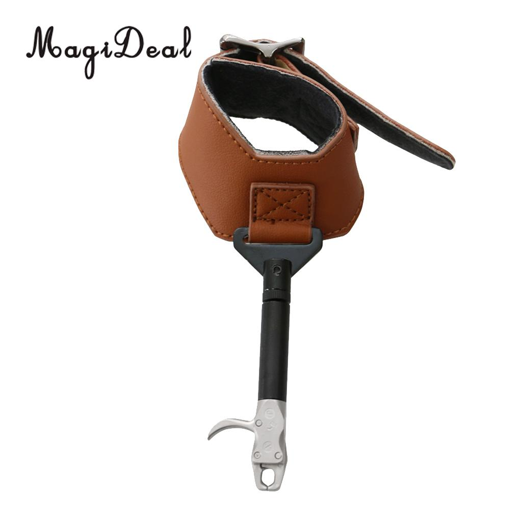 MagiDeal Archery Wrist Release Aid Thumb Button Caliper Compound Bow ...