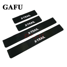 цена на For Nissan X-Trail XTrail ROGUE T32 2014-2017 Door Sill Scuff Plate Guards Door Sills Strip Protector Stickers Car Accessories