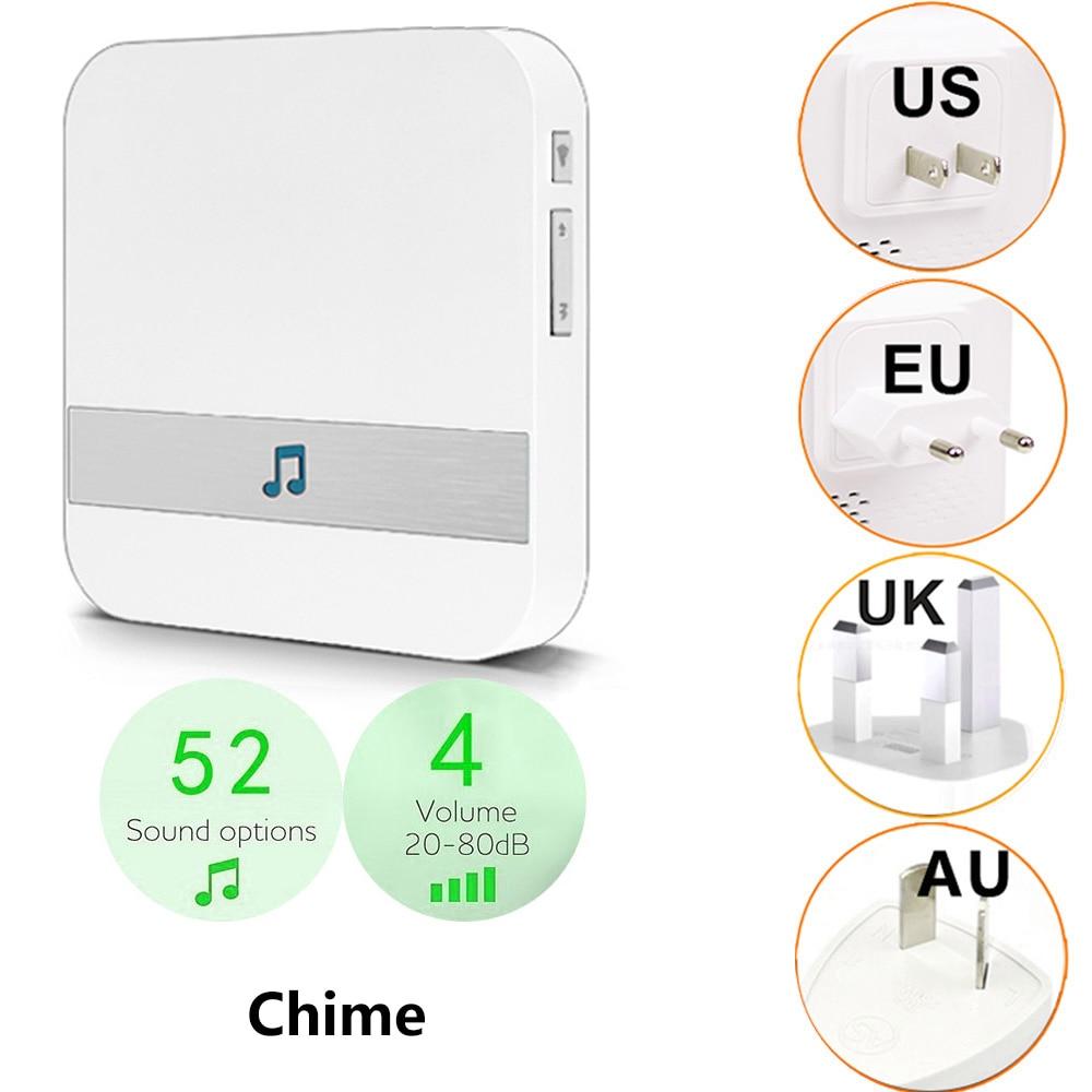 Для Anytek B30 B60 eken V5 V6 V7 дверной звонок Chime AC 110-220 В умный Внутренний дверной звонок беспроводной WiFi US EU UK AU Plug XSH app Chime
