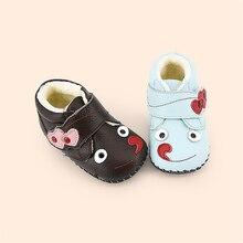 Lolita Girls Winter Baby First Walker Shoes Newborns Warm House Light Cute Footwear Infantil Leather Babe Shoes 60A1008