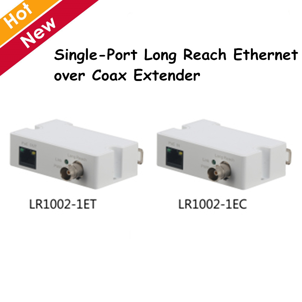 Dahua Single-Port Long Reach Ethernet Over Coax Extender LR1002-1ET LR1002-1EC 1 RJ45 10/100Mbps 1 BNC Ip Accessory