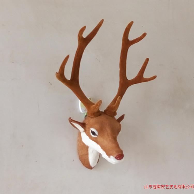 simulation cute lucky deer head 43x17x17cm model polyethylene&furs deer head , wall pandent model home decoration gift d556 simulation male deer 18x25cm model polyethylene