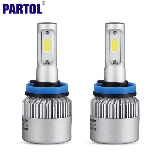 S2 Partol 72 W 8000LM H4 H7 H9 H11 H13 9005 9006 H1 COB LED Bombillas de Los Faros Del Coche LED Kit de Conversión de Faros de Niebla de La Lámpara 6500 K 12 V