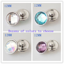 12mm small snaps Single molding beads metal for 12mm beads jewelry fit small snap jewelry KB3190-DA(China)