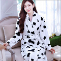Ladies Bath Robe Winter Long Sleeve Flannel Bathrobes Female Night Gown Robe Femme Home Bathrobe Dressing Gowns For Women