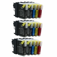 Replacement LC 39 60 LC39 LC60 LC 39 LC 60 Ink Cartridges For DCP 585CW/595CN/J715W/6690CN/6690CW/J515N Inkjet Printer