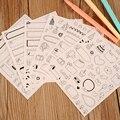 New Bonito Encantador 6 Folha de Adesivos De Papel para Scrapbook Diário Calendário Foto Livro Decoração livro, cartão de artesanato