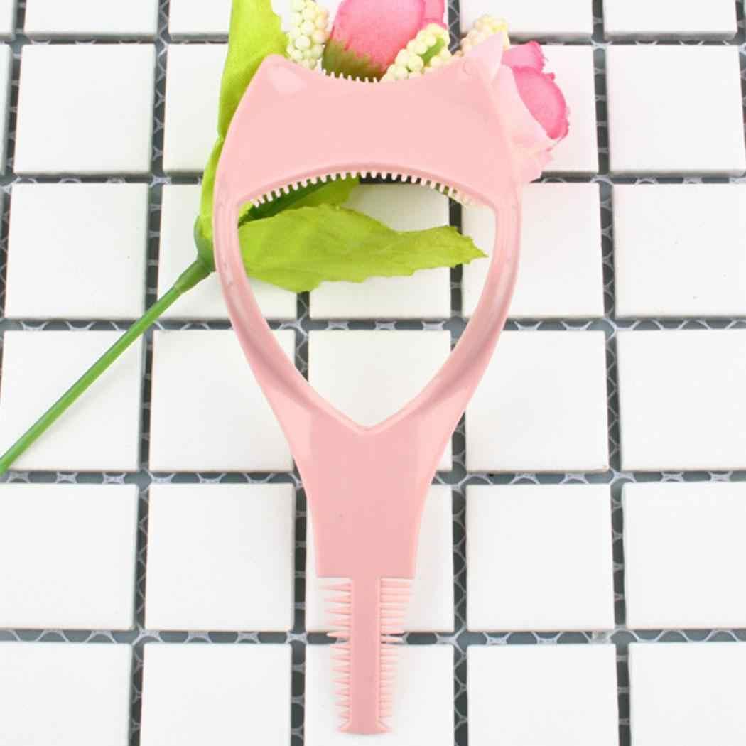 3 в 1 Тушь для ресниц аппликатор для ресниц направляющая карта расческа макияж розовый инструмент
