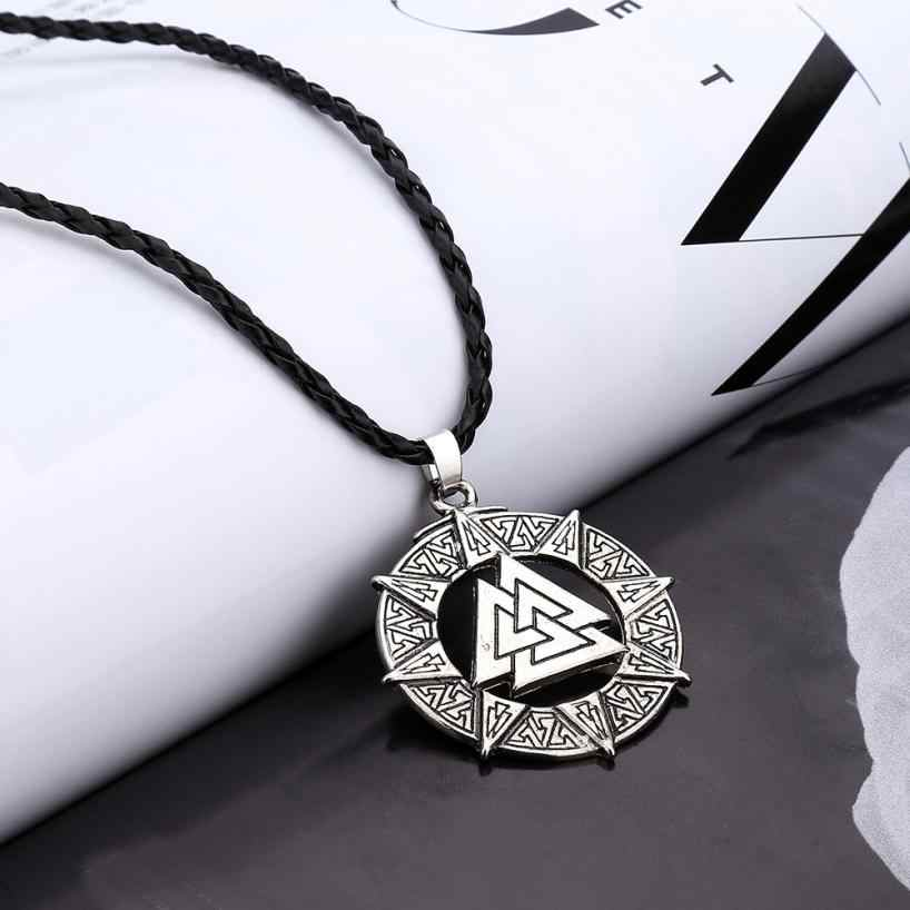Slavic Norway Valknut Pagoda Necklaces Amulet Pendant Men Necklace Jewelry Warrior Symbol Jewelries Accessories Exquisite Choker