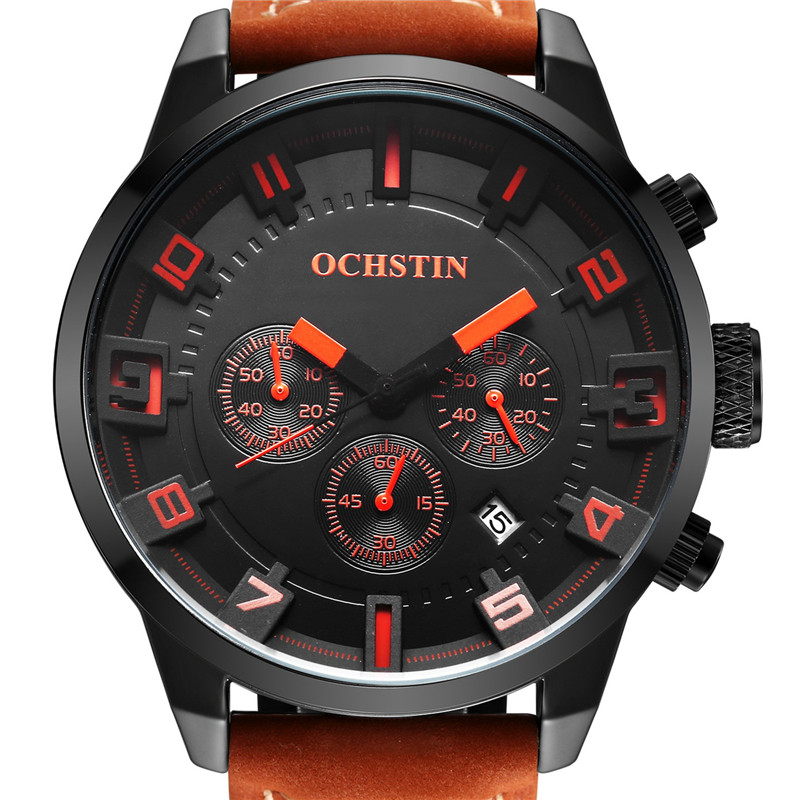 OCHSTIN Men's Watch Quartz Sports Watches Men 3D Face Clock Military Army Hodinky Waterproof Wrist Watch Male Relogio Masculino weide new men quartz casual watch army military sports watch waterproof back light men watches alarm clock multiple time zone