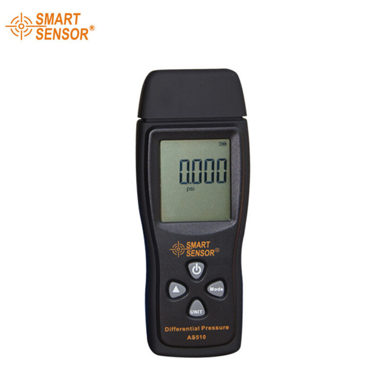 New arrival Smart sensor Brand AS510 Differential Pressure Meter Manometer 0~100hPa  negative vacuum pressure meter as510 digital mini manometer with manometer digital air pressure differential pressure meter vacuum pressure gauge meter