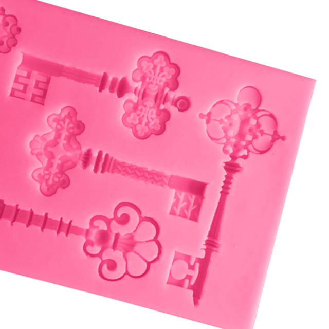 Retro Key Shaped Silicone Cake Mold