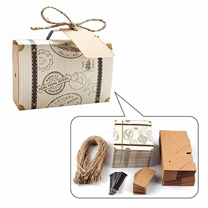 10pcs paper Chocolate Candy Box Gifts bag for travel theme party Wedding bridal baby shower birthday retirement Decoration Favor