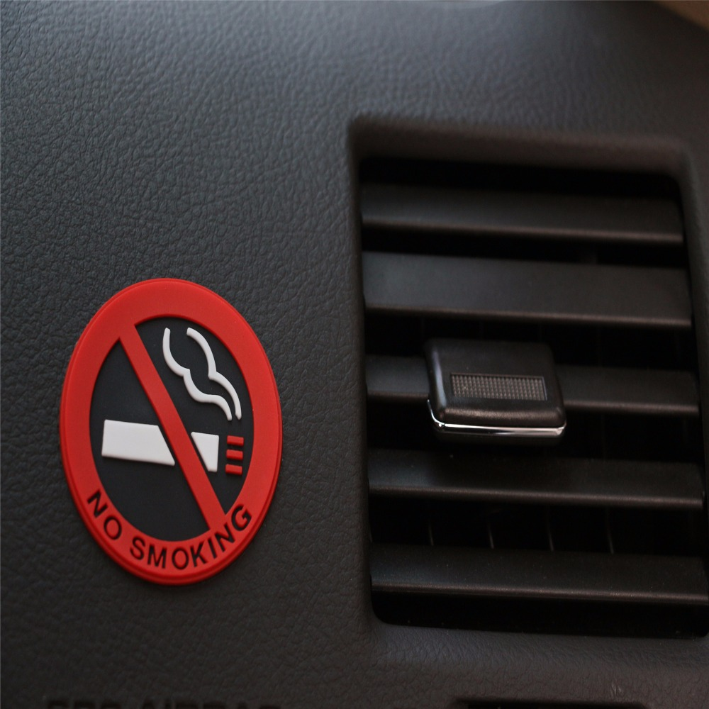 Car styling 3D Sticker Warning No Smoking <font><b>Logo</b></font> Car Stickers For <font><b>Volvo</b></font> S40 <font><b>S60</b></font> S80 XC60 XC90 V40 V60 Any Cars image