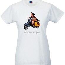 Camiseta de chica Scooter de los años 60 para mujer. Retro Vintage 60s Ad alta calidad Mod Soul camiseta hombres camiseta
