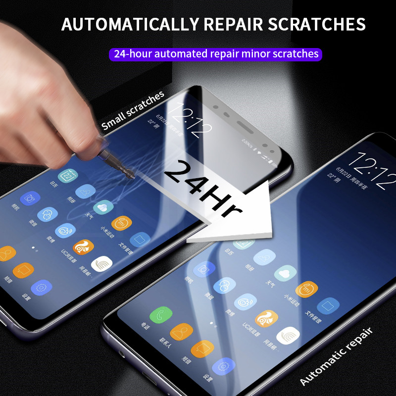 Plusme 3D Full Cover Soft Hydrogel Film For Samsung Galaxy S8 S9 A8 Plus Soft Film For Samsung S7 Edge Note 8 9 Not Glass in Phone Screen Protectors from Cellphones Telecommunications