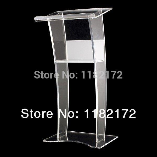 Unique Design Acrylic Lectern Podium/acrylic Podium Pulpit Lectern Free Shiping