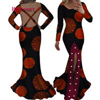 african clothes for women wax cotton for party wedding african print dresses african dress women long dress sleeves WY3759
