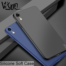 VVKing For iphone XR Case Silicone TPU Soft Simple Shell Apple Cover Ultra Thin Plain Candy Color Matte Cases Coque
