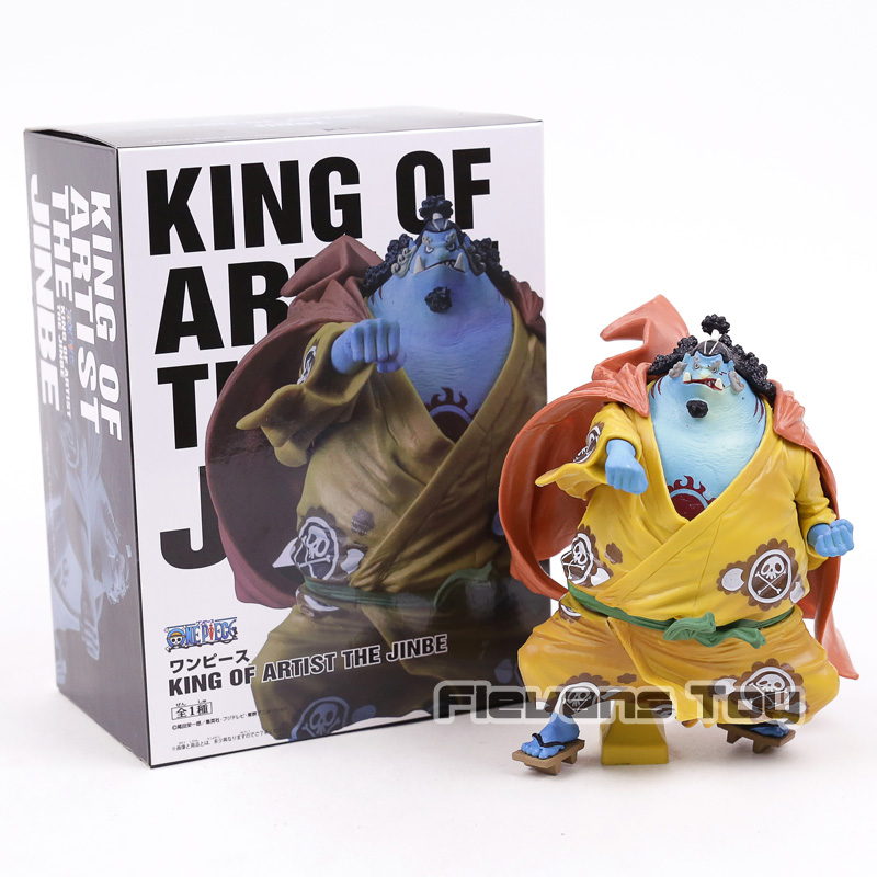 Anime One Piece Figurine Banpresto KOA King Of Artist The Jinbe 1/8 Scale PVC Figure Collectible Model Toy