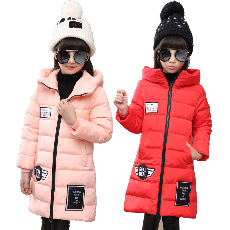 New Winter Girls Down Jackets/coats Fashion Baby Girl Down Coats Thick White Duck Down Warm Jacket Children Outerwears -30degree цена