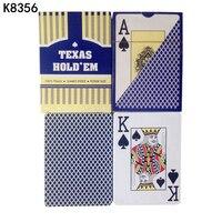 K8356 Новое поступление красный/синий 1 шт. 100% Техасский Холдем Водонепроницаемый пластиковые игральные высокого качества карты покер звезды ...