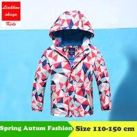 Liakhouskaya 2018 Spring Children Jacket For A Boy Coats Hooded Windbreaker Kids Waterproof Windproof Outerwear For