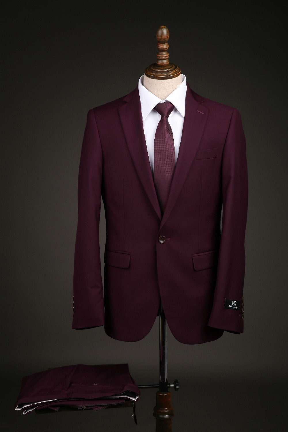Free shipping big size men 39 s blazer slim business wedding for Wine colored mens dress shirts