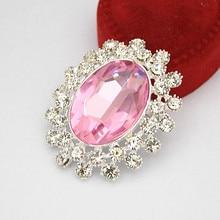 Хорошее качество, овальная форма, розовый кристалл, брошь, серебряный тон, свадебный букет, брошь для женщин, для банкета, платья, корсаж