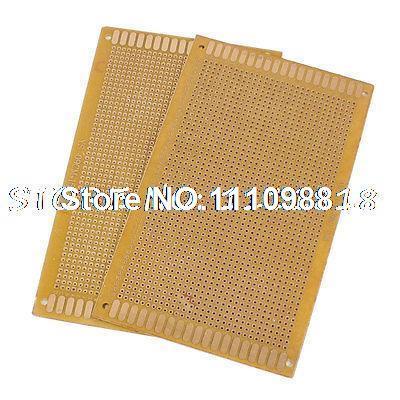 2 Pcs PCB Circuit Board Prototype Copper Veroboard Stripboard 90mm x 150mm double side prototype pcb breadboards 2 x 8cm 10 pcs