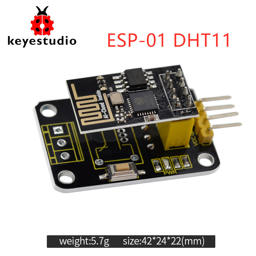 Keyestudio ESP-01 DHT11 Temperature and Humidity Module +ESP 8266 WIFI For Arduino