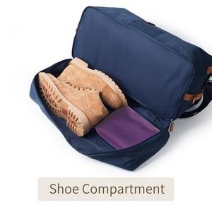 Image 5 - Mealivos Canvas Waterproof Travel Tote Duffel shoulder handbag Weekend Bag with Shoe Compartment