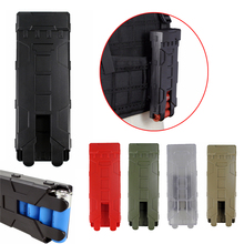 Quick Access Shot Gun Shell Magazine Carrier ABS Plastic Case with MOLLE Clip Hold 10 Rounds for 12G