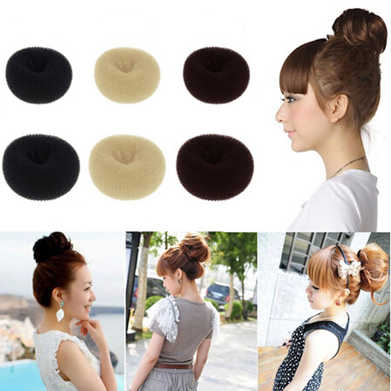 Hot Sale Lady's Girls Sponge Hair Styling Tool Bun Maker Ring Donut Shape Hair Style Hair Sticks best price mgehr1212 2 slot cutter external grooving tool holder turning tool no insert hot sale brand new