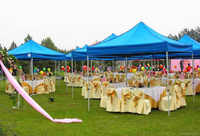 3m*3m Aluminum Frame Outdoor Party Wedding Gazebo Tent, Instant Marquee, Pop Up Canopy, Sun Shelter For Wedding, Party