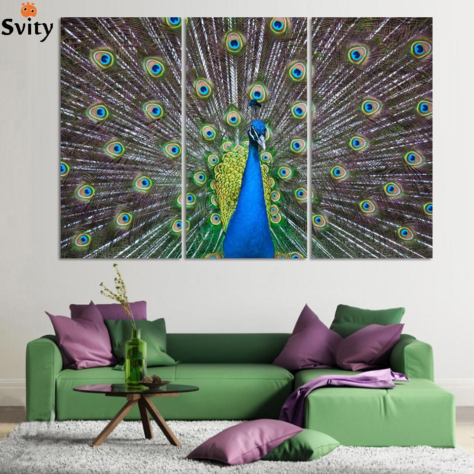 Peacock Colors Living Room Popular Peacock Painting Buy Cheap Peacock Painting Lots From