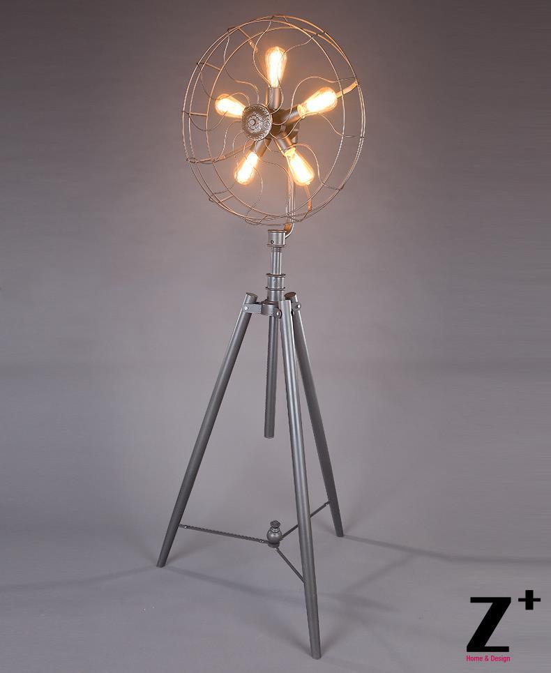 Industrial lamp RH Vintage Fan FLOOR LAMP Grey Iron made ...