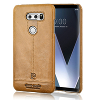 Original Pierre Cardin Genuine Leather Cases Luxury Brand Back Case For LG V30 Ultra Thin Hard