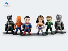 Kissen Justice League Superman Batman Wonder Woman Green Arrow 6pcs/set PVC Collectible Model Toy Action Figure Toy 9.5cm