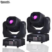 2 PCS מכירה לוהטת מיני ספוט 60w LED הזזת ראש אור עם Gobos צלחת & צבע צלחת, בהירות גבוהה 60W מיני Led שלב אור DMX512