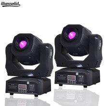 2 peças mini ponto 60w led de movimento luz de cabeça com placa de gobos e placa de cor, alto brilho 60w mini led palco luz dmx512