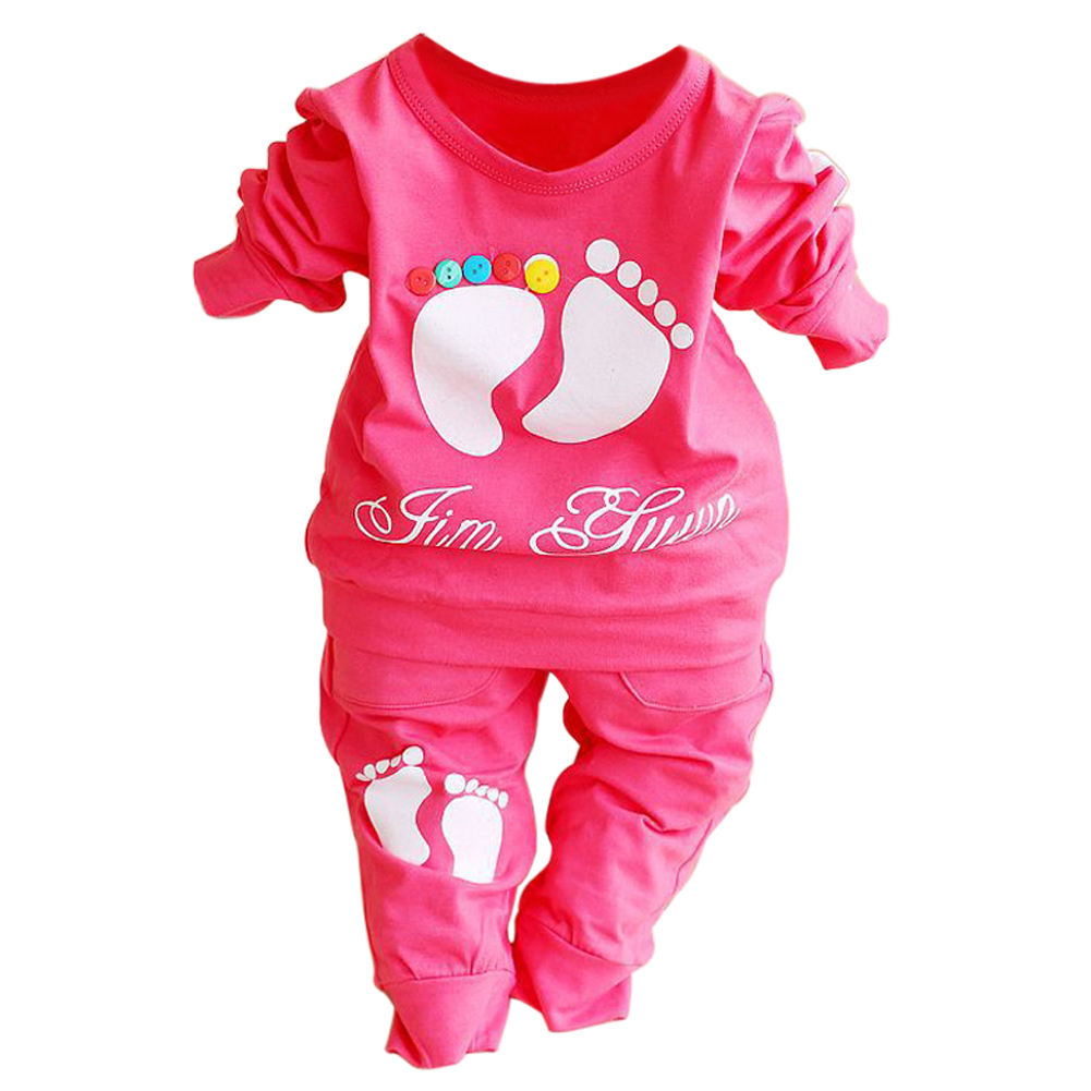 ABWE Best Sale High Quality 100% Cotton baby clothing set,Toddlers children set,baby boys girls 2 pcs Footprints ,Hot sale-Red abwe best sale high efficiency 540 17 5t