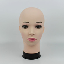 New Arrival!High quality Realistic female mannequin head plastic Manikin dummy for hat display wig