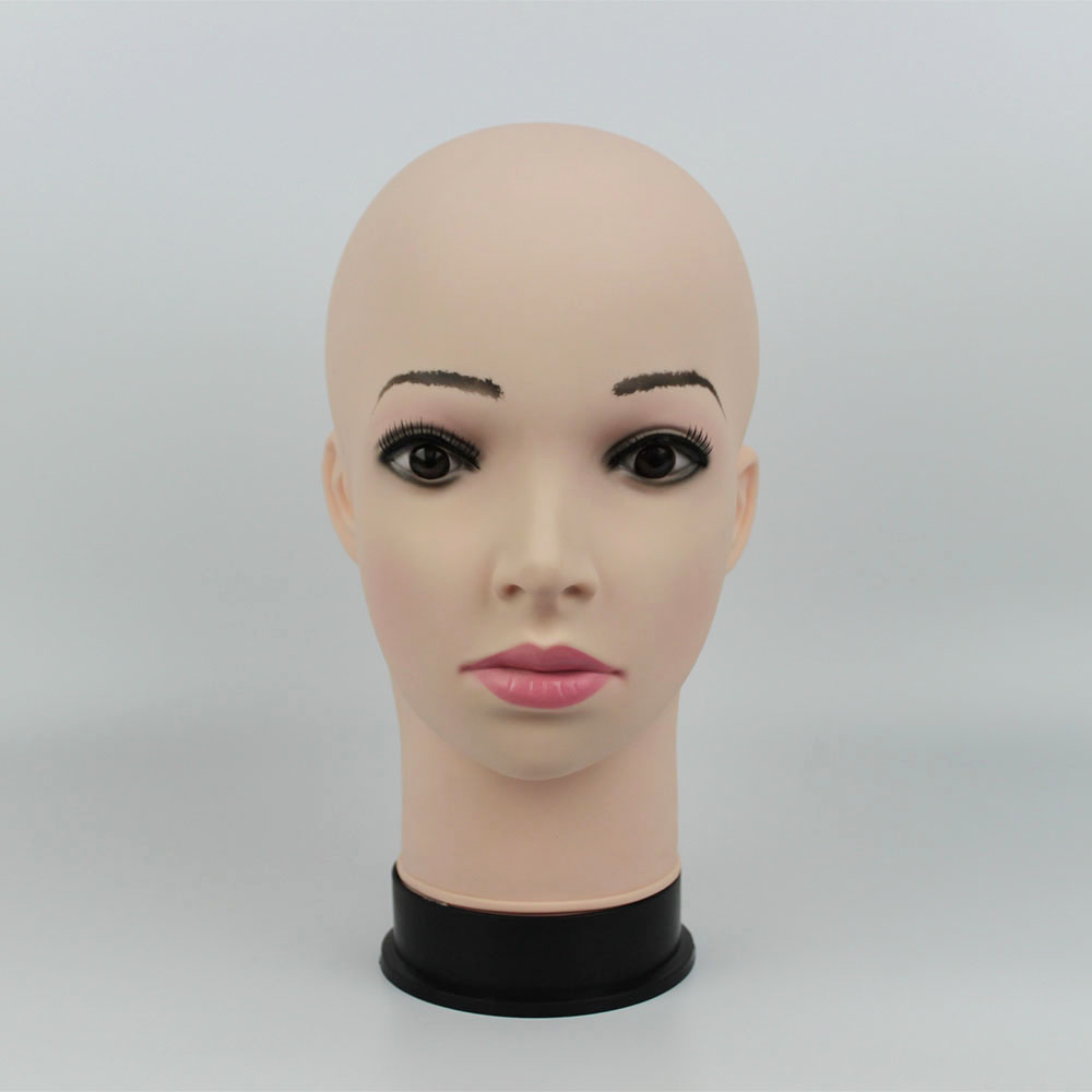 Realistic Female Mannequin Head, Plastic Manikin Dummy Head For Hat Display, Wig Head